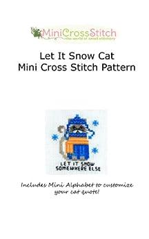 Let It Snow Cat Mini Cross Stitch Pattern by [Stitch, Pinoy]