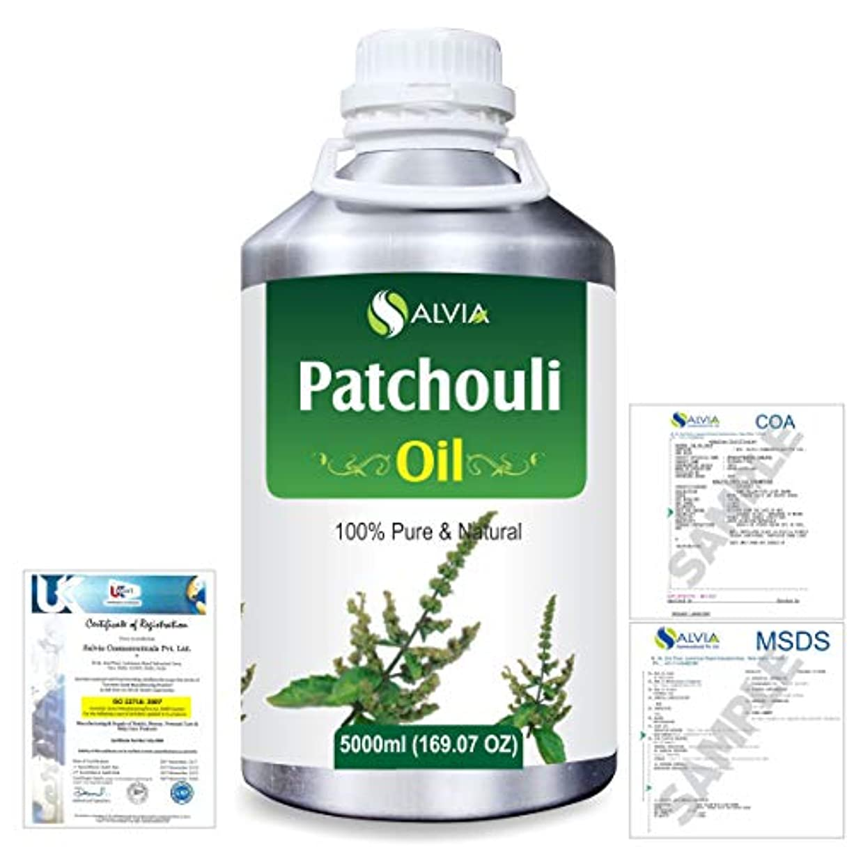 Patchouli (Pogostemon cablin) 100% Natural Pure Essential Oil 5000ml/169fl.oz.