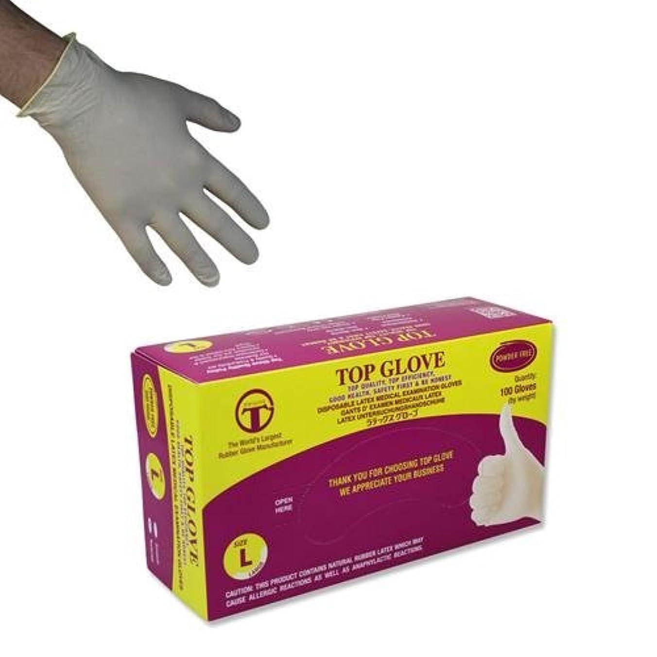 借りているマンハッタンたくさんトップグローブパウダーフリーの使い捨てラテックス手袋 - AQL 1.5-100箱(小)