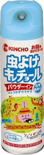 虫よけキンチョール パウダーイン シトラスミントの香り 200mL (蚊 ブヨ マダニ)