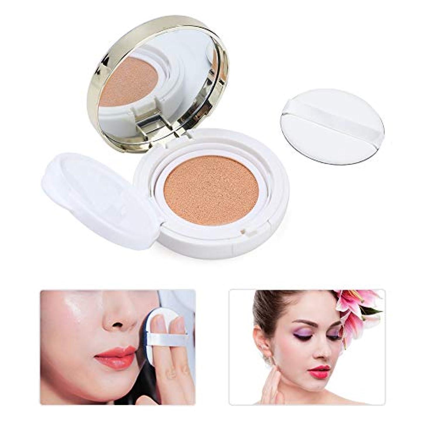 エアクッションBBクリーム 化粧ホワイトニングコンシーラークッション - 基礎メイクロングラスティングカバー保湿フェイスメイクアップツール