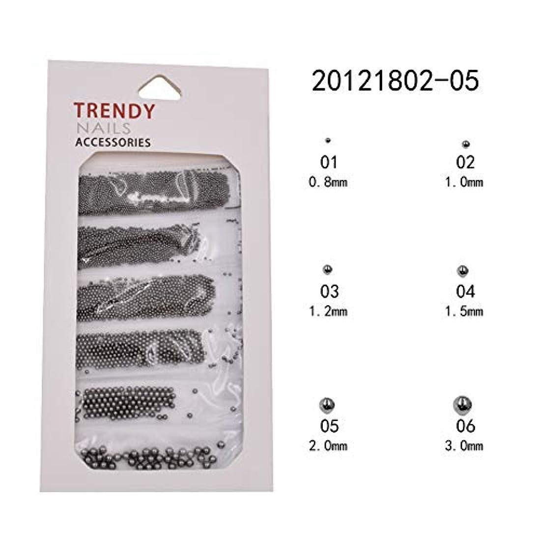メーリンドス ネイル3Dデザインアートパーツ ネイルブリオン ゴールド&シルバー&ブラック&バラゴールド&グレー 0.8/1.0/1.2/1.5/2/3mm ネイルパーツデコレーション (04)