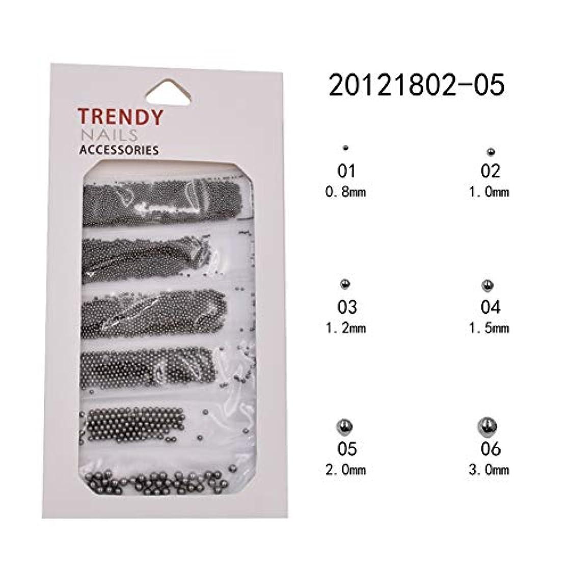 製造到着する存在メーリンドス ネイル3Dデザインアートパーツ ネイルブリオン ゴールド&シルバー&ブラック&バラゴールド&グレー 0.8/1.0/1.2/1.5/2/3mm ネイルパーツデコレーション (04)