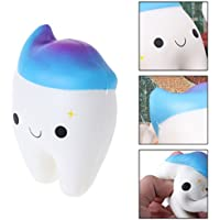 Chone Squishy Rainbow Tooth、ソフトジャンボSlow Rising Stress Relief Squeezeおもちゃ子供&大人ギフト
