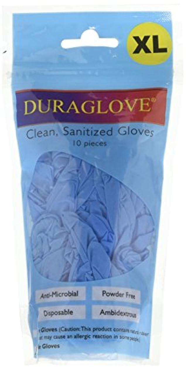 フォークスキルささいなUniwareニトリル使い捨て抗菌Sanitized手袋、ブルー XL ブルー