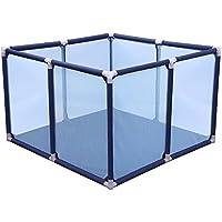 HUO ゲームフェンスの赤ちゃん四角形の安全な手すりベビーガードレール 省スペース (色 : 青, サイズ さいず : 100 * 100 * 65cm)