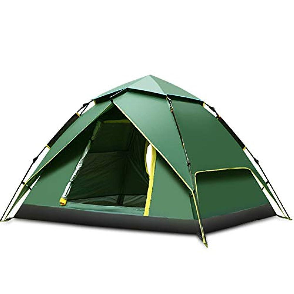 牧師努力するかすかなキャンプテント 耐久性のあるドームハイキングポータブル折りたたみ式の防水屋外のキャンプテントキャンプ 軽量で便利なテント (Color : Blue)