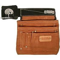 Spear & JacksonSJ-L45Builders Apron, 6 Pocket, Nail Bag, Leather Work Apron,