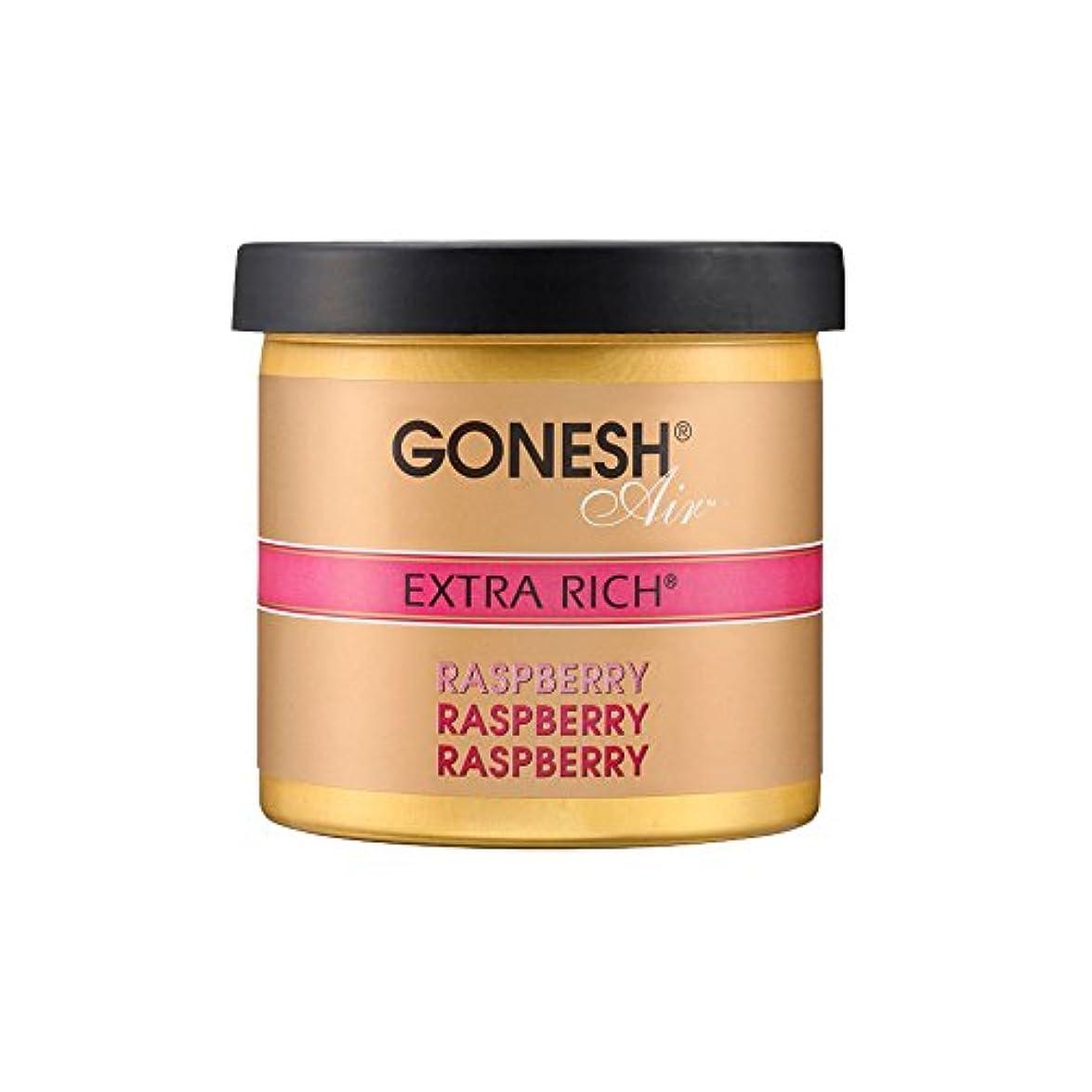 簡略化する温かい付添人GONESH ゲルエアフレッシュナー エクストラリッチ ラズベリー