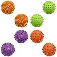 感覚器のセットKnobby Balls 。Perfect forモータースキルとDevelopement as well asマッサージ刺激。