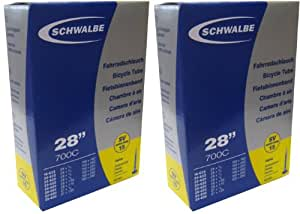 SCHWALBE(シュワルベ) 700×18/28C用チューブ 仏式ロングバルブ 15SV-EX.L 2個セット 【並行輸入品】