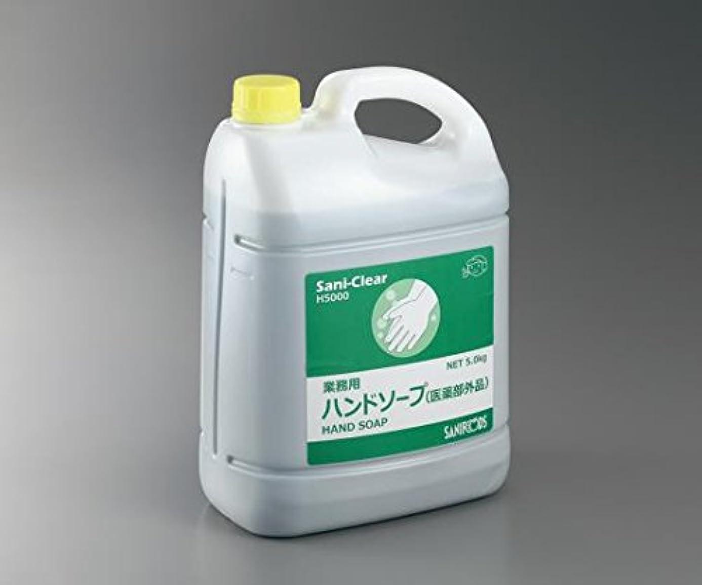 まもなくライオネルグリーンストリート分析的なアズワン3-5378-12業務用薬用ハンドソープSani-Clear(サニクリア)無香料5kg3本入フォームディスペンサ付き