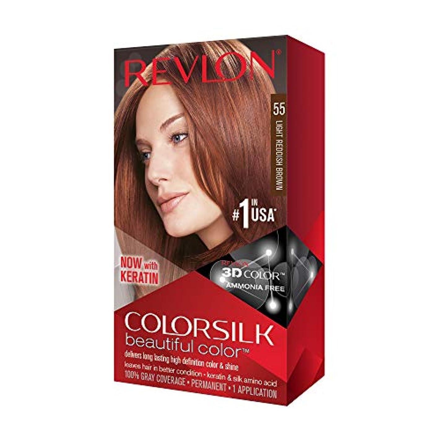 干渉する争い吐き出すRevlon Colorsilk美しい色、ライト赤褐色、1つのカウント 1つのカウント ライト赤褐色