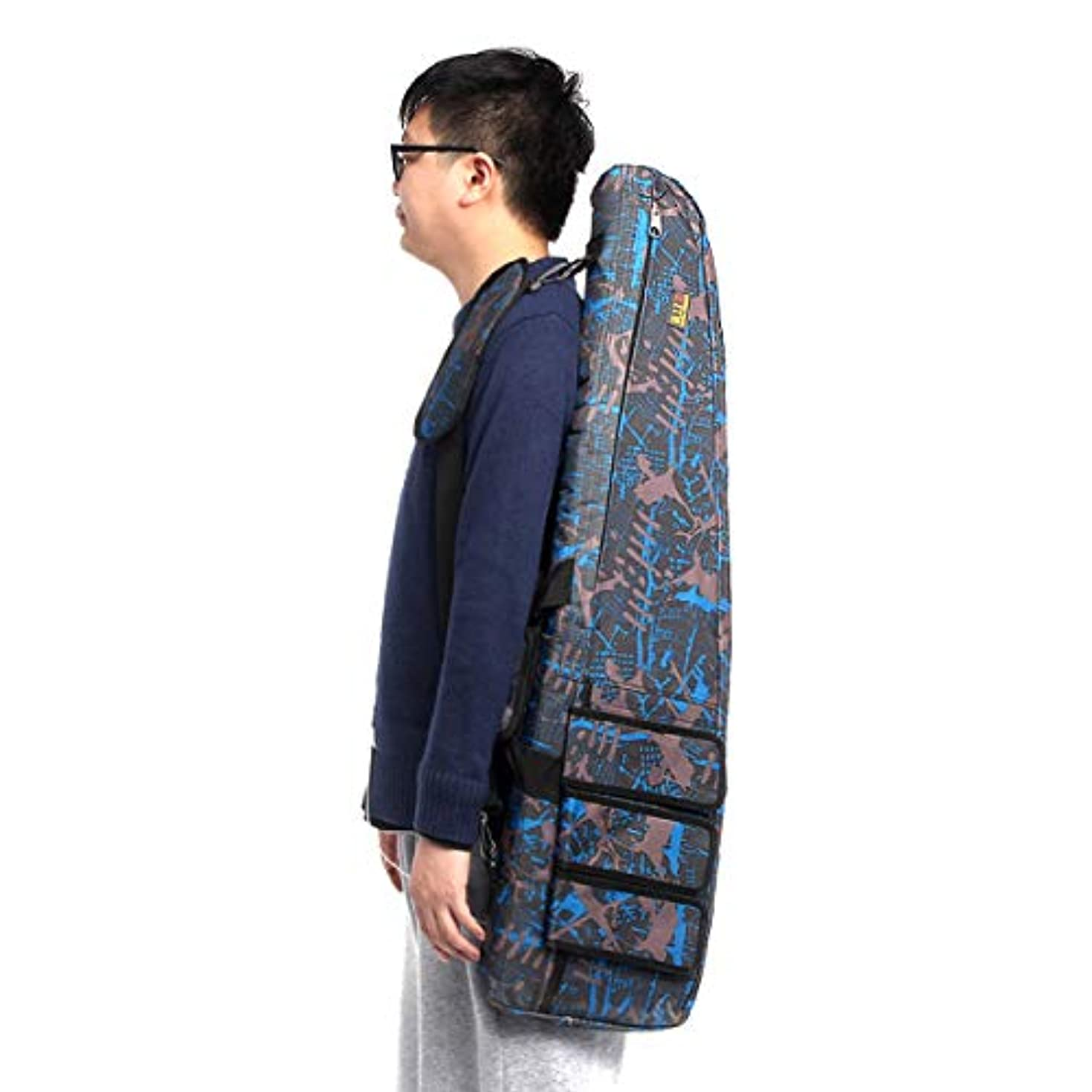 高く食い違い意見タックルボックス ポータブル100x28cmオックスフォード布フィッシングバッグ防水戦術フィッシングロッドバッグ収納ショルダーバッグ 釣具収納 (Color : Blue, Size : 100x28cm)