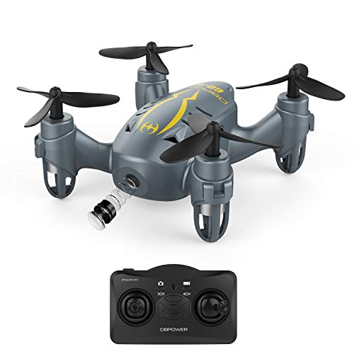 DBPOWER ミニドローン カメラ付き 国内認証済み 初心者向き 三段階スピード調整 3D宙返り ヘッドレスモード マルチコプター
