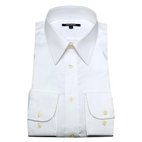 (オジエ) ozie 〔00002049〕【ワイシャツ・カッターシャツ】レギュラーフィット・形態安定・綿100%・レギュラーカラー・織柄無地 L ホワイト白シャツ 5926-01-W-81