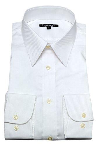 (オジエ) ozie 〔00002049〕【ワイシャツ・カッターシャツ】レギュラーフィット・形態安定・綿100%・レギュラーカラー・織柄無地・ホワイト白シャツ 5926-01-W-81