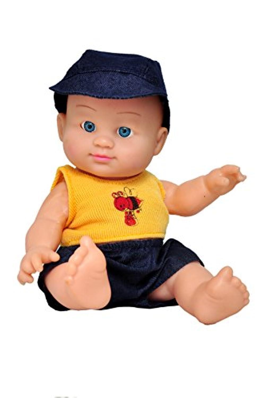 toyshine 7インチリアルなEddyベビー人形おもちゃ、イエローブラック