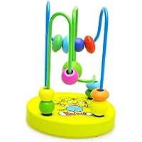 fullfun木製ベビー幼児用おもちゃ教育インテリジェンス円最初Around Bead Maze for Boys Girls 1-3 years old bead toy