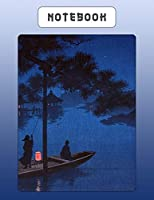 Notebook: Japanese Writing Practice Large Note Book - Genkouyoushi Paper For Kanji Characters & Kana Script - River At Night Scene