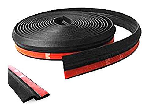 TSUCIA 車内 静音化 ウェザーストリップ Z型 静音モール ドアモール 気密性アップ (黒, 5m)