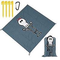 YTREEレジャーシート ピクニックマット防水 携帯便利 150×145cm 2〜6人用カラビナ付き