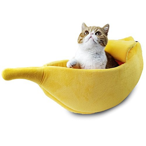 バナナ形 猫ベッド 犬ベッド ペットベッド ペットハウス 春 夏 年中通用 快適 ふわふわ 可愛い ...