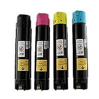 互換性ありエプソンC9100のトナーカートリッジS050195 / S050196 / S050197 / S050198のトナーのためのEPSON C9800インクカートリッジと互換性がある,4colors
