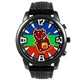 [タイメスト]Amazonas Venezuela Country Flag Mens Black Jelly Silicone Wrist Watch 腕時計 [並行輸入品]