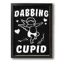 King Duck バレンタインデー キューピット 絵画 インテリア フレーム装飾画 アートポスター 壁画 アートパネル 壁掛け 木枠付き Black