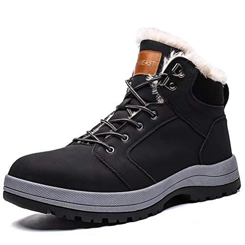 [ZanYeing] 超防寒 ワークブーツ スノーブーツ 23cm-29cm イエローブーツ メンズ 裏起毛 ウィンターブーツ アウトドア レディーズ 綿靴 防水 防滑 ショットブーツ インナークッション マーティンブーツ 裏ボア ハイキングブーツ 雪靴