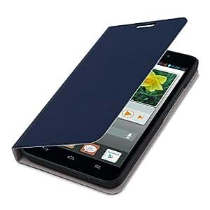 kwmobile フリップカバー保護カバーケース Huawei Ascend G620s用 青色 - 携帯電話の実用的でシックな保護