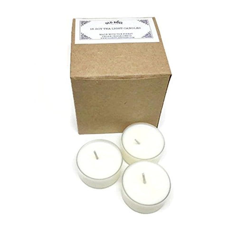 いらいらさせる元の沿ってEgyptian Amber Scented Vegan Soy Tea Light Candles - 16 Box Set [並行輸入品]
