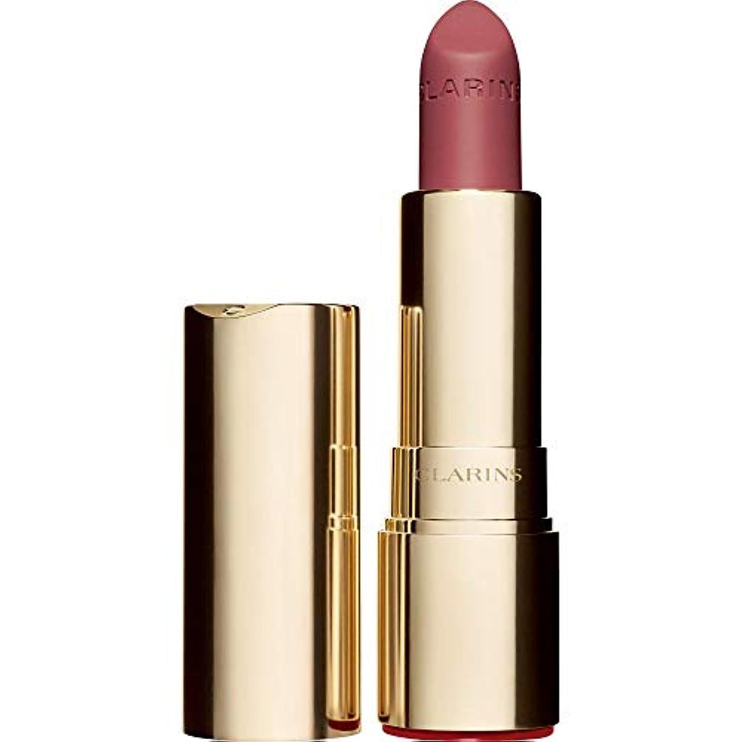 時折エピソードみなす[Clarins ] クラランスジョリルージュのベルベットの口紅3.5グラムの752V - ローズウッド - Clarins Joli Rouge Velvet Lipstick 3.5g 752V - Rosewood...