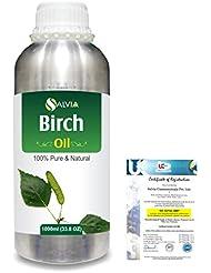 Birch (Betula Pendula,Betula Alba) 100% Natural Pure Essential Oil 1000ml/33.8fl.oz.