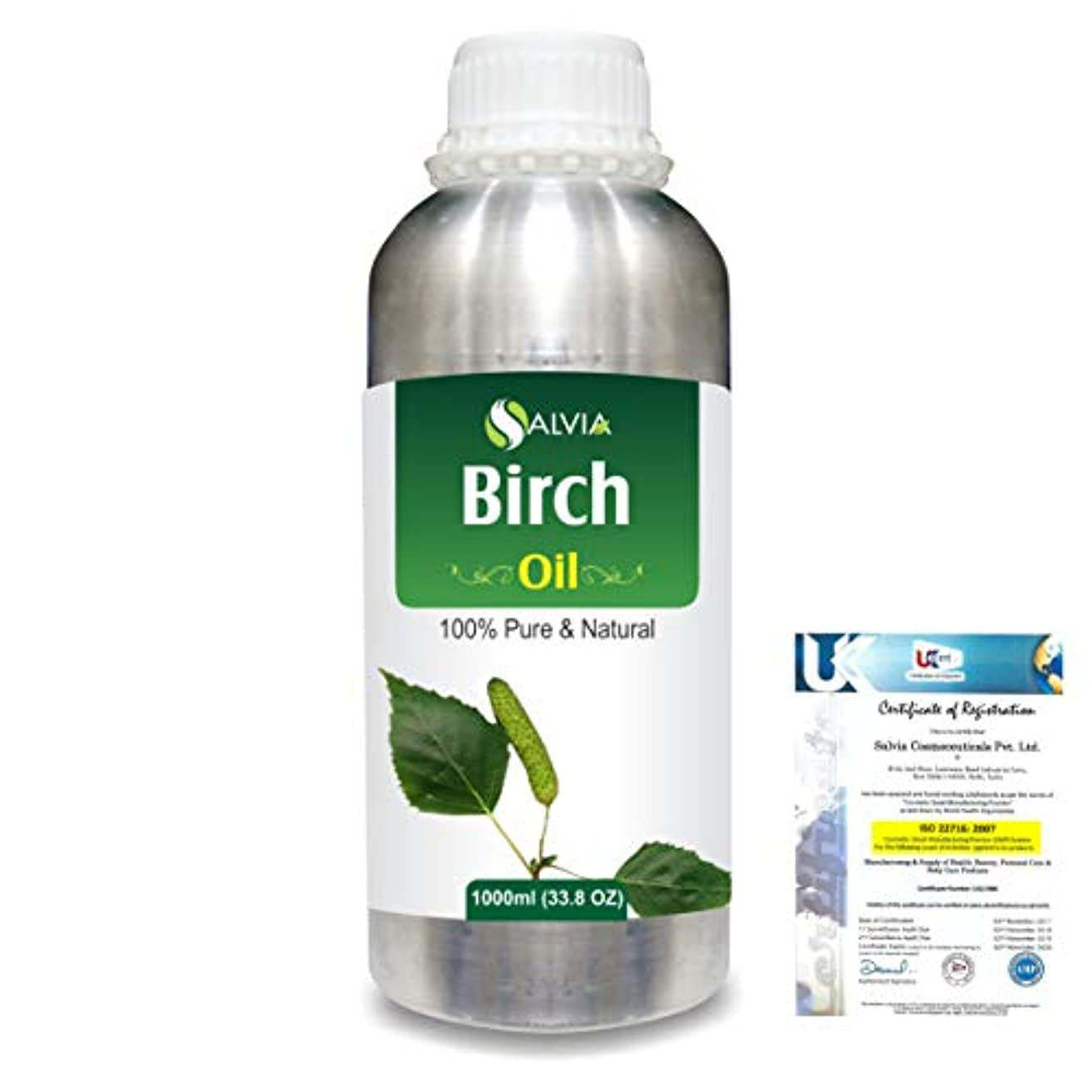 弱点苦しめる疼痛Birch (Betula Pendula,Betula Alba) 100% Natural Pure Essential Oil 1000ml/33.8fl.oz.