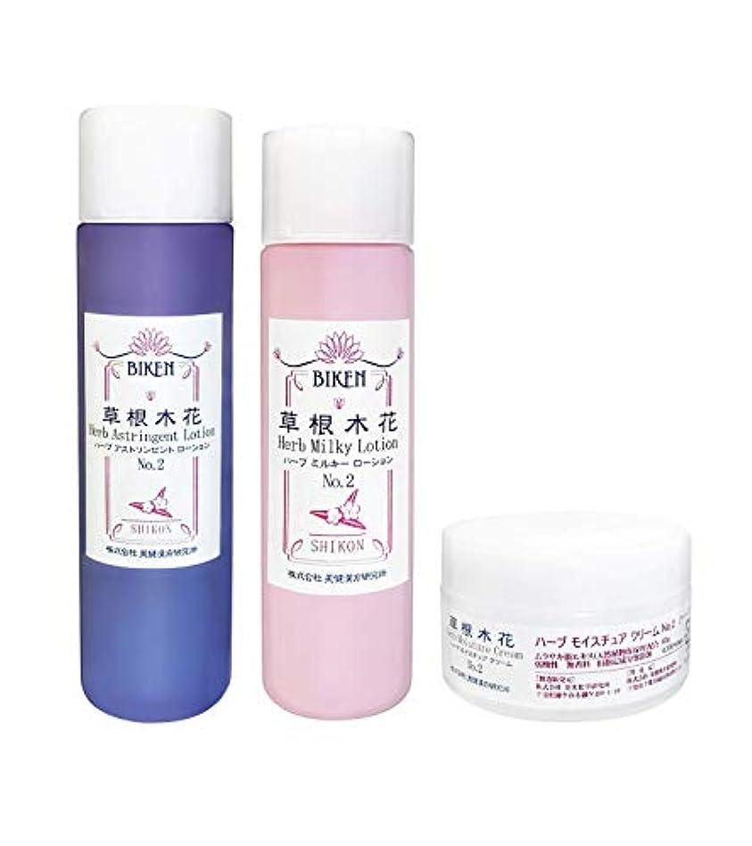 蓮好意洗う「紫根(シコン)エキス和漢自然派基礎化粧品3点セット」   保湿力に特化した大人のスキンケア  シェアドコスメ(男女兼用化粧品)