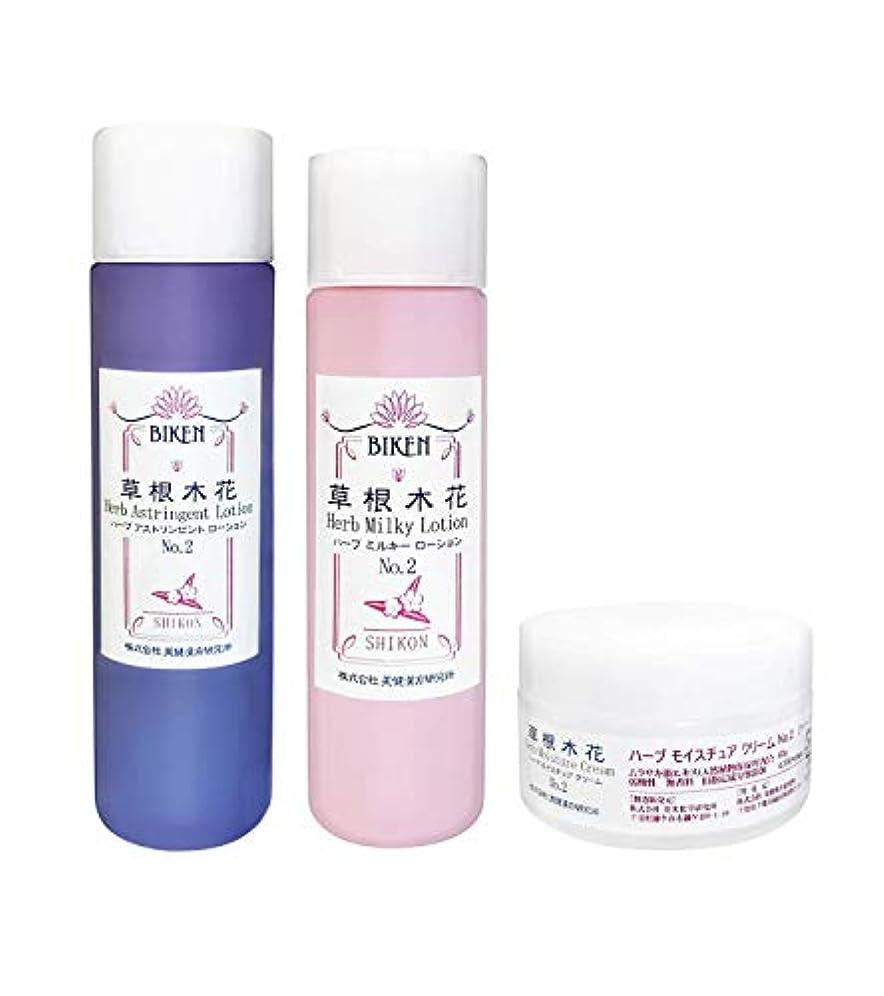 「紫根(シコン)エキス和漢自然派基礎化粧品3点セット」   保湿力に特化した大人のスキンケア  シェアドコスメ(男女兼用化粧品)