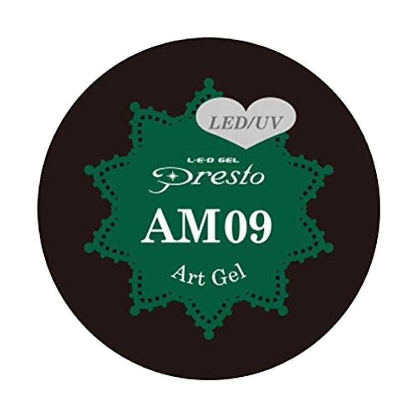 バッフル不良品二十Presto アートジェル ミニ AM09 2g UV/LED対応