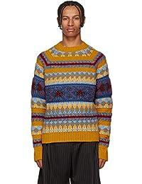 (アクネ ストゥディオズ) Acne Studios メンズ トップス ニット・セーター Yellow Striped Jacquard Crewneck Sweater [並行輸入品]