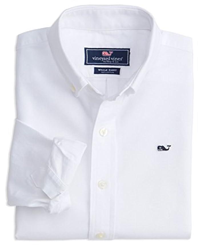 頭イーウェルスマート(ビンヤード?バインズ) Vineyard Vines メンズ ボタンダウンドレスシャツ スリムフィット US サイズ: L カラー: ホワイト