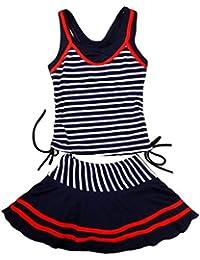 JOLIE JOIE 水着 子供 キッズ かわいい スイミング ウェア ボーダー スカート ストライプ セパレート 旅行 キュート ガール 女の子 女児 A02