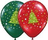 【クリスマスバルーン】チャーミィパック 28cmクリスマスツリースター&スウィル ルビーレッド&エメラルドグリーン・4個入り(5パック) [おもちゃ&ホビ...