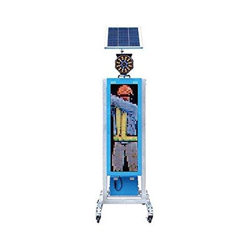 ソーラー式LED電光盤(フルカラー1文字4段 パネル320mm)(デジタルスイッチ)
