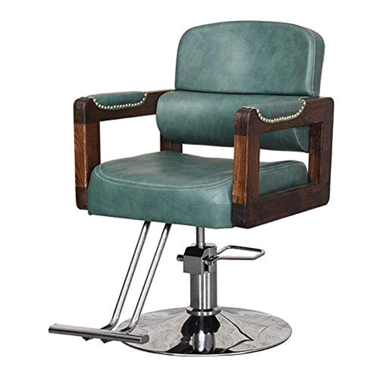 頬モンスター霜サロンの椅子は専門の油圧理髪店の椅子の大広間の美容院の鉱泉のモデリングチェアの円形の基盤を持ち上げるために回すことができます,Brown,B