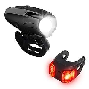 OxyLED 自転車ライト テールライト付 USB充電式 ヘッドライト 高輝度 IP65防水 防塵 6モード調光 取り付け簡単 軽量 BL01