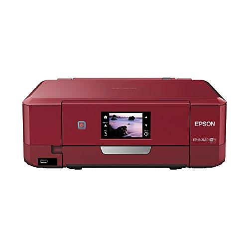 EPSON インクジェット複合機 Colorio EP-807AR 無線 有線 スマートフォンプリント Wi-Fi Direct レッド