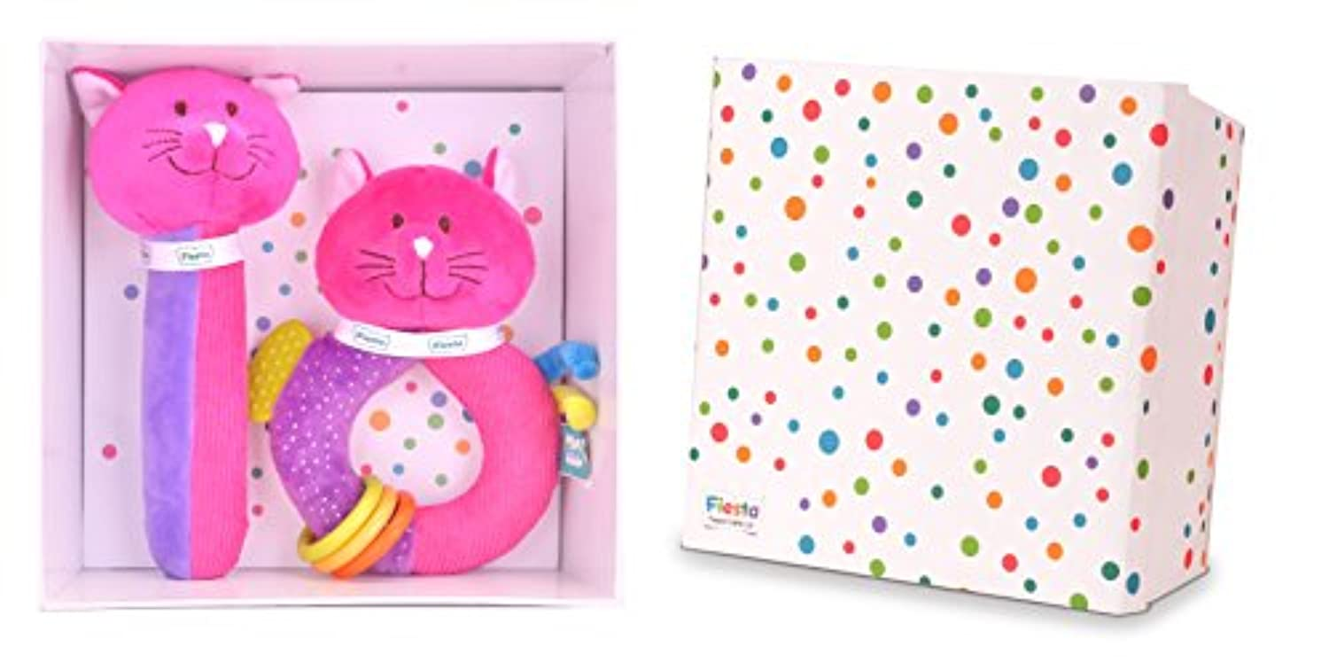 Cat Baby Gift Set - Squeakaboo And Ringaling Toys
