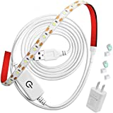 BOESVHO Sewing Machine Light LED Strip, fits All Sewing Machine, with Touch Dimmer and USB Power, 6500k Cold White Light,Sewi