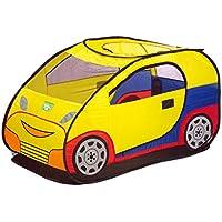 子供の遊びのテントトンネル赤ちゃん遊び屋屋内遊園地折りたたみしやすい (Color : Yellow, Size : 65 * 68 * 120CM)